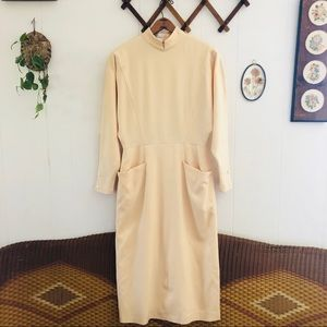 70's French Wool Minimalist Dress